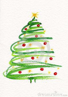 Afbeeldingsresultaat voor schilderij kerstboom