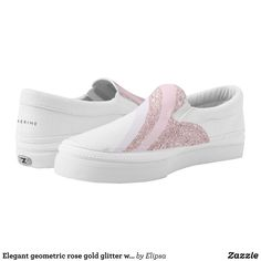 Elegant geometric rose gold glitter white marble Slip-On sneakers - Printed Unisex Canvas Slip-On #Shoes Creative Casual #Footwear #Fashion #Designs From Talented Artists - #sneakers #feet #fashion #design #fashiondesign #designer #fashiondesigner #style - Look sporty stylish and elegant in a pair of unique custom sneakers - Each pair of custom Low Top ZIPZ Shoes is designed so you can fit your style to any wardrobe mood party or occasion - Fashionable sneakers for kids and adults give you a…