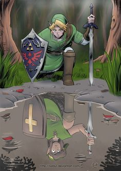 Hero of Time Past (30th Zelda Anniversary) (color) by Syldur.deviantart.com on @DeviantArt