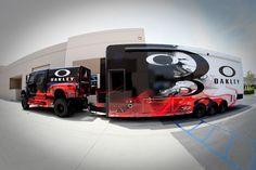oakleyhauler_004.jpg Vehicle Signage, Vehicle Branding, Custom Trailers, 2016 Cars, Custom Wraps, Van Wrap, Car Trailer, Truck Design, Motor Works