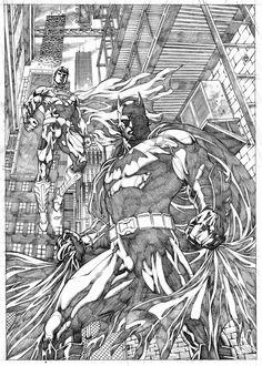 Batman & Superman by Allan Goldman