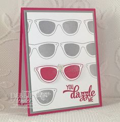 You Dazzle Me Stamped Sunglasses Background!