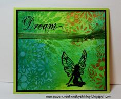 Chocolate Baroque Stamps, Dylusions Inks & Crafters Workshop Stencil