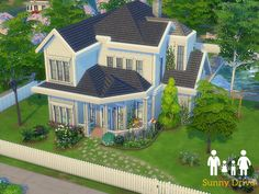 Welcome to Sunny Drive where the Kids run wild! Featuring three bedrooms, one bathroom and plenty of kid space! Found in TSR Category 'Sims 4 Residential Lots'