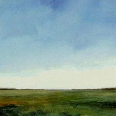 Original Large Oil Painting 40x40 CUSTOM Modern Abstract Sky Cloud Field LANDSCAPE Art by J Shears