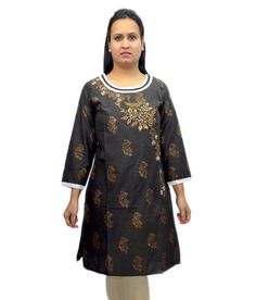 Loved it: Bpt Black Cotton Printed Round Neck Kurti, http://www.snapdeal.com/product/bpt-black-cotton-printed-round/1624845988