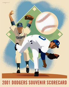 Dodgers Scorecard. Illustrated by Paul Rogers.