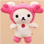 zodiac sign Rilakkuma white teddy bear as Scorpio plush toy charm