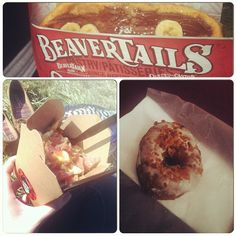 The Canadian Trifecta : BeaverTails pastries, poutine, and a maple bacon doughnut Photo by ohiooisonfire