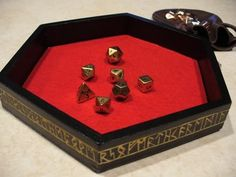 i would love someone to make this for me, without the writing on the side  GAME ON! No more dice rolling off the table!