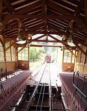 Heidelberg, Germany, Bergbahn: cog-wheel railway scaling the mountain