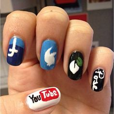 Endless Madhouse!: Social Networking Nails to Like and Share!!!