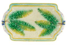 Majolica Oblong Leaves Wall Platter on OneKingsLane.com