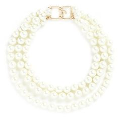 Designed to last beyond the ebb and flow of trend, this glass pearl necklace by Kenneth Jay Lane will add a touch of ladylike chic to any occasion.