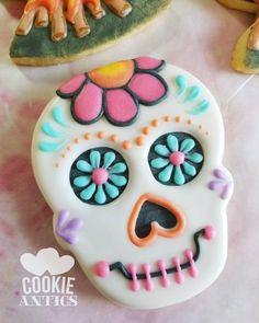 "257 Likes, 16 Comments - Cookie Antics (@cookie_antics) on Instagram: ""I'm having a blast with my Go Bo cookies! #GoBoBakeSale2017 #GoBo #DayOfTheDead…"""