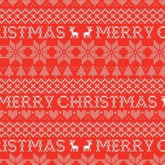 Merry Christmas Fairisle Red Wrapping Paper - 3 Sheets | Christmas Decorations & Giftwrap | Sass & Belle