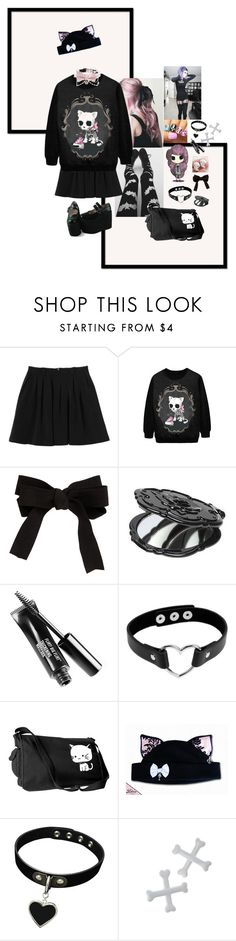 """""""Sorta Pastel Goth"""" by primawanna ❤ liked on Polyvore featuring Monki, ASOS, Anna Sui, Kreepsville 666, pastelgoth and CreepyCute"""