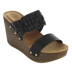 los angeles c0d0d a673f online shopping for Refresh Womens Stud Weaved Strap Platform Wedge Sandal  from top store. See new offer for Refresh Womens Stud Weaved Strap  Platform ...