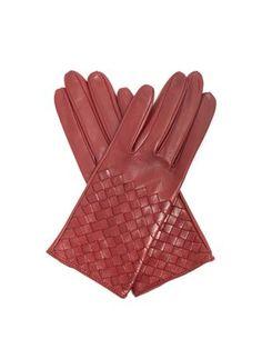 Bottega Veneta Intrecciato Leather Gloves In Burgundy Leather Gloves, Red Leather, Bottega Veneta, Fashion Advice, Mittens, Gift Guide, Branding Design, Weaving, Burgundy