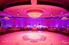 I am not crazy about the color of the lighting, but again the couple did a great job with the dance floor!