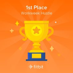 First one in MONTHS!!!  Check out my trophy for getting first place in the Workweek Hustle challenge! #Fitbit