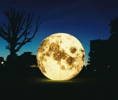 inflatable moon by Janella Eastman ...Can make any design by using inflatable materials.