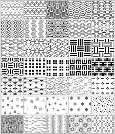 【デザイン】和柄素材の種類を増やしたい もっと見る Geometric Pattern Design, Tribal Patterns, Doodle Patterns, Floor Patterns, Zentangle Patterns, Graphic Patterns, Pattern Art, Textures Patterns, Japanese Textiles