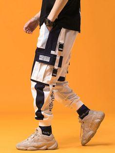 Spring Mens Harem Pants Streetwear Jogger Ribbons Trousers Men Hip Hop Sweatpants - Men's style, accessories, mens fashion trends 2020 Streetwear Mode, Streetwear Fashion, Mens Joggers, Jogger Sweatpants, Jogger Pants Style, Hip Hop Fashion, Mens Fashion, Fashion Outfits, Skater Fashion