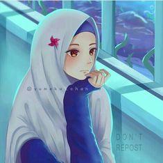 Sükut-u Language Greeting Human Muslim Images, Muslim Pictures, Girl Cartoon, Cute Cartoon, Cartoon Art, Anime Chibi, Kawaii Anime, Hijab Drawing, Islamic Cartoon