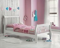 Buy Daisy Sleigh Single Bed Frame - White at Argos.co.uk, visit Argos.co.uk to shop online for Children's beds, Children's beds