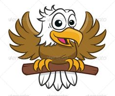 Eagle Toon Eagle Cartoon for your toy store, kid/Baby store or any related. this file come's with Editable EPS format. Created: GraphicsFilesIncluded: VectorEPS Layered: Yes MinimumAdobeCSVersion: Tags: ai Eagle Cartoon, Hawk Logo, Moon Projects, Kids Hangers, Eagle Mascot, Flamingo Decor, Toy Store, Rock Art, Vector Design