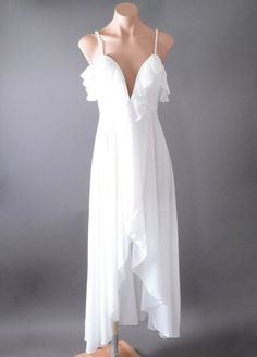 160c7395f5 awesome White Ruffle Wedding Bridal Party Evening Sundress Formal Long Maxi  Dress S M L Check more at