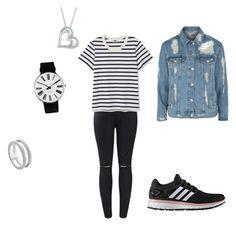 """School outfit!💗"" by melanie-santbergen on Polyvore featuring mode, Topshop, adidas, Rosendahl en Monica Vinader"