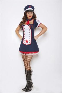 PIN10 for 10% off! Sexy Navy Girl Costume