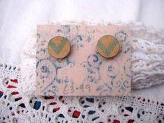 Circular Wooden Earrings £3.99