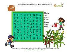 Kids Garden Fun Word Search Puzzle