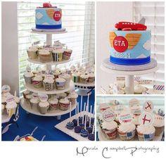 Airplane theme cake! Done by incrediBundts & More!
