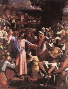 """""""The raising of Lazarus"""" -Sebastiano del Piombo (1517-1519)"""