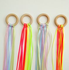 DIY waldorf inspired ribbon dancers for kids. Toddler approved, perfect for boredom busters and imagination sparking!