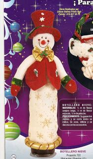Garrafas decoradas natal