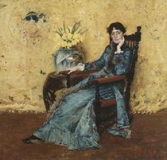 William Merritt Chase - Portrait of Miss Dora Wheeler 1883