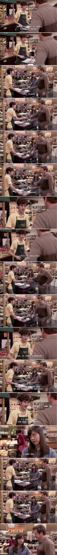 ron swanson and april ludgate moment - Imgur