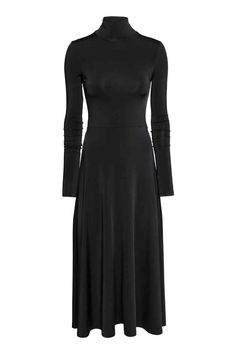 Long polo-neck dress - Black - Ladies | H&M