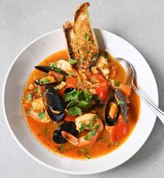 A flavorful Summer Seafood Stew, with fennel bulb and chorizo --simple to make, full of flavor, healthy and delicious!