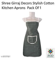 Checkout this latest Aprons_500 Product Name: *Elegant Cotton Kitchen Apron* Material :Cotton Size ( L X H ) : 75 cm x 50 cm Description :   It Has 1 Piece Of Kitchen Apron Pattern  : Checkered Color: Assorted Country of Origin: India Easy Returns Available In Case Of Any Issue   Catalog Rating: ★3.9 (466)  Catalog Name: Lovely Elegant Cotton Kitchen Apron Vol 2 CatalogID_312047 C129-SC1633 Code: 721-2337021-981
