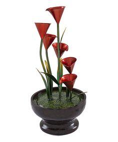 Look at this #zulilyfind! Red Floral Fountain #zulilyfinds