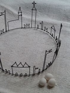 wire crown - see the paul klee drawings. 3d Drawing Pen, 3d Pen, Sculptures Sur Fil, Wire Sculptures, Deco Boheme Chic, Wire Crown, Stylo 3d, Art Fil, Diy Inspiration