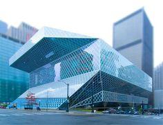 Seattle Public Library - tilt shift photo