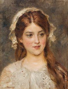 Konstantin Makovsky (1839-1915) - Portrait of a young girl