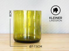 Gläser - KLEINER / Ø 7-7,5CM / LINDGRÜN (Glas / Becher) - ein Designerstück von Glaeserne_Transparenz bei DaWanda